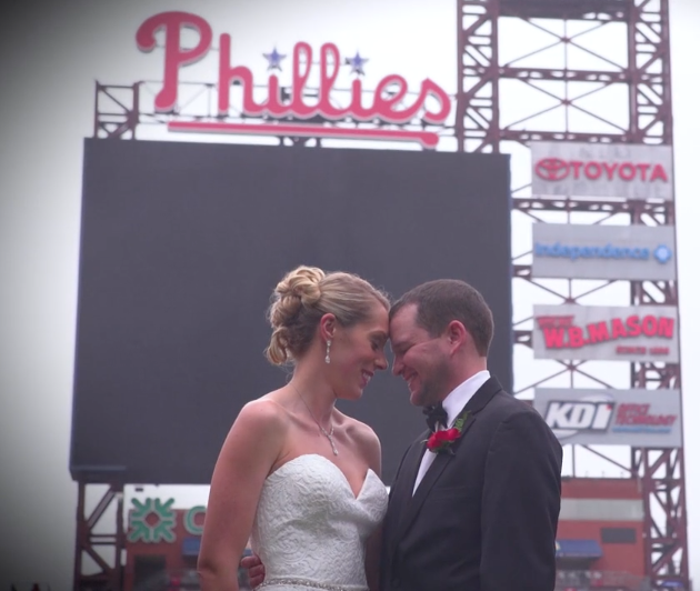 baseball-themed wedding