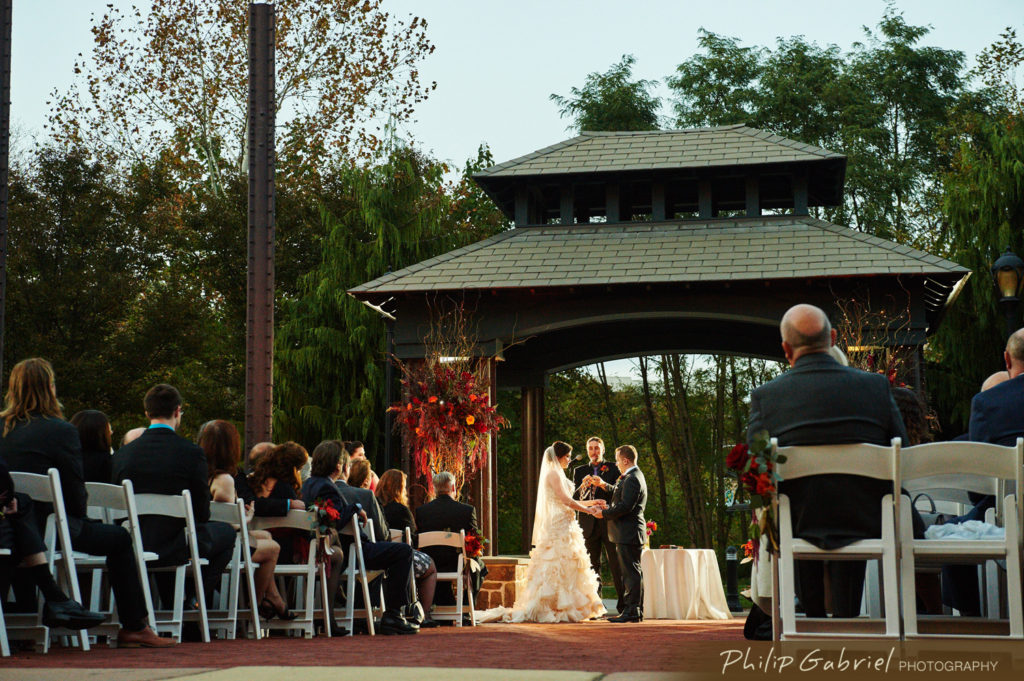 Bride and Groom Get Married at Phoenixville Foundry by Philip Gabriel Photography