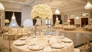 Ballroom with Flowers at The Drexelbrook