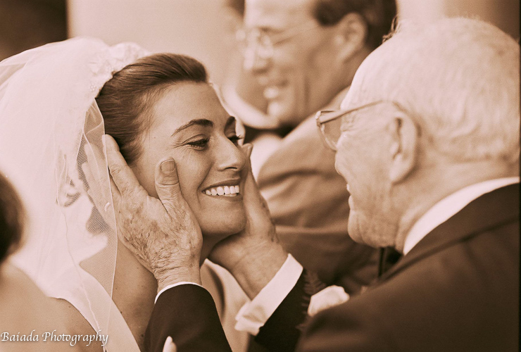 Philly Wedding Photographer Baiada Photography Grandfather With Bride