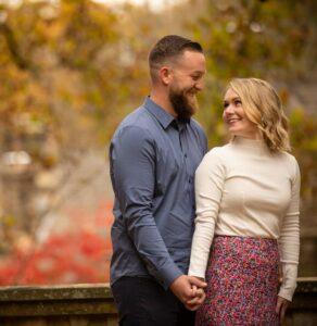 Autumn Engagement Photo by Baiada Photography