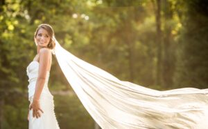 Philly Outdoor Wedding Photo of Bride by Morby Photography