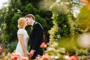 Couple Photographed Amongst Flowers in Philadelphia by Ralph Deal Photography