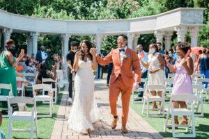 Tonjanika Smith Philadelphia Wedding Photographer Happy Couple Walks Down Aisle