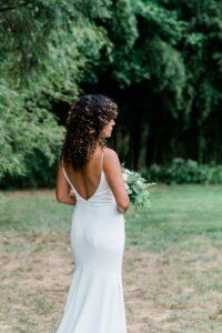 Beautiful Outdoor Shot of Bride by Tonjanika Smith Philly Wedding Photographer