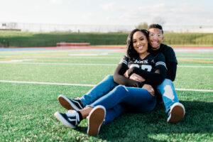 Tonjanika Smith Captures Philadelphia Engagement Photo on Football Field