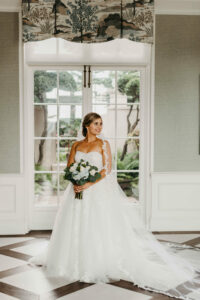Bride Smiling at Overbrook Golf Club