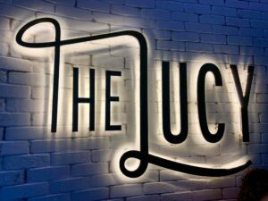 The Lucy by Cescaphe Lighted Sign Philadelphia Wedding Venue